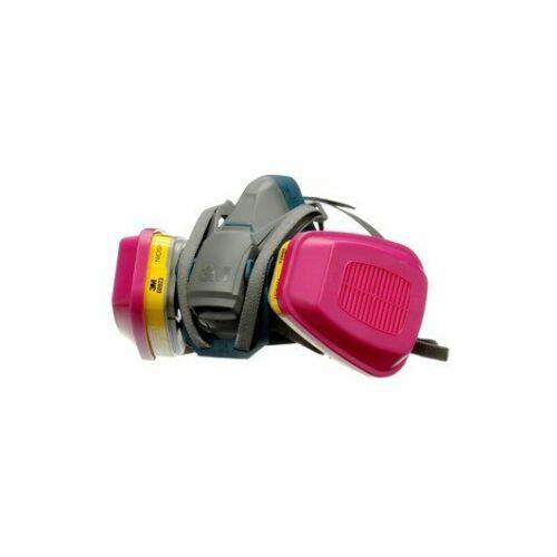 3M 6502QL & 2 EA 60923 OV/AG/P1OO Cartridge, Multi-Purpose Respirator MEDIUM