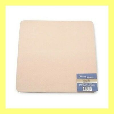 "Lot of 3 BEAD MATS ~ Crafter's BEADING Pads 12"" x 12"" Soft flocked pad ~Washable"