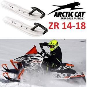 "NEW ARCTIC CAT SNOWMOBILE SKIS 6"" 6639-385 139925750 FITS 14-18 ZR SADDLELESS TRAIL SKI WHITE SNOW MOBILE"