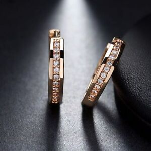 Champagne Gold-Color Cubic Zirconia Simple Item Female Earrings