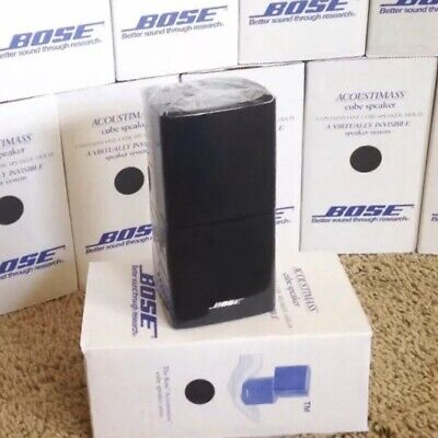 Bose Double Cube MINT Speaker DoubleShot Acoustimass Reflecting Lifestyle Black