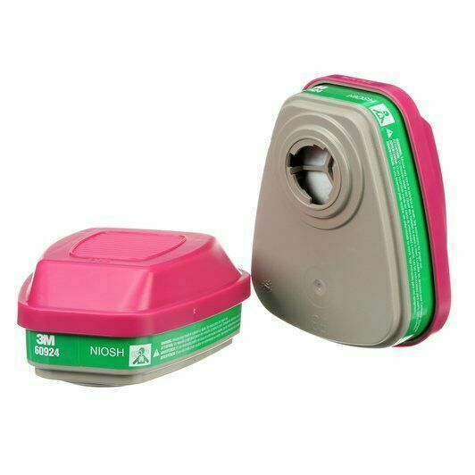 3M 60924 Ammonia/ Methylamin/P1OO Replacement Respirator Cartridge/Filter 1 PR Business & Industrial