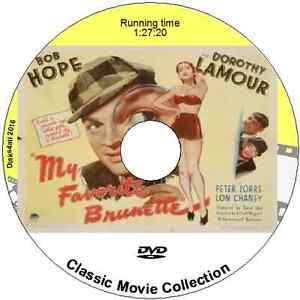 My Favorite Brunette   Bob Hope Dorothy Lamour   Crime Comedy 1947 DVD