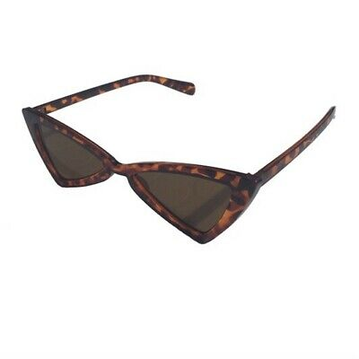 Retro Triangular Sunglasses Tortoise Shell Unisex Sun Glasses Shades Brown Black