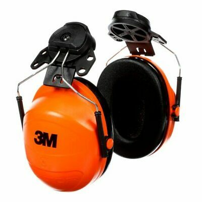 New 3m Hi-viz Orange Earmuffs Hard Hat Attached 23db Peltor H31p3e