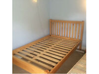 Beautiful Beach Wood Small Double Bed Frame