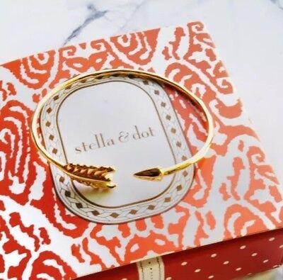 Nwt Stella   Dot Gilded Arrow Cuff Bracelet Gold Layering New In Box