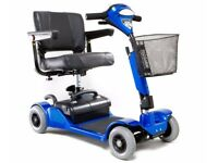 MOBILITY SCOOTER, 4-WHEEL STABILITY, CAR BOOT FRIENDLY, ALMOST NEW