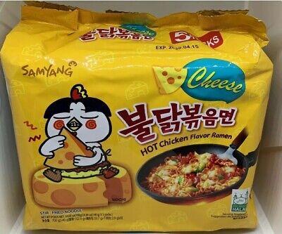 Samyang HOT Chicken Flavor Ramen Korean CHEESE  Stir Fried Noodles 5packs X 140g