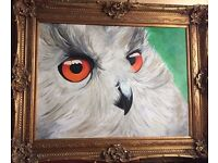 Stunning painting of an owl