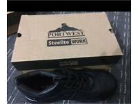 Port west steel toe cap boots Size 11