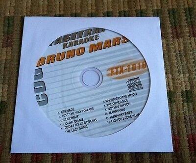 Bruno Mars 2011 Karaoke Cdg Greatest Hits Fastrax Ftx 1018   19 99