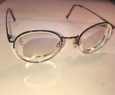 Round Designer 9005 Semi Rimless Eyeglasses Frames Made In Hong (Semi Round Eyeglass Frames)