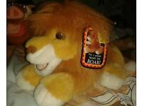 Mattel tagged Simba Lion King hand puppet roaring soft toy