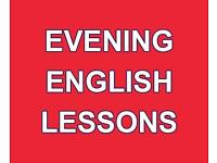 Evening English Lessons - £5 per lesson