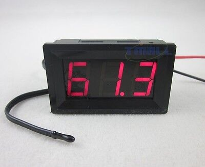 Dc 12v Red Led Digital Thermometer -50220f Fahrenheit Temperaturetemp Probe
