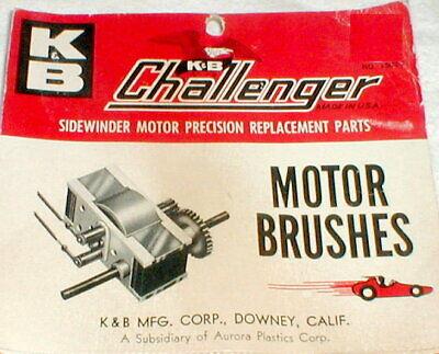 K&B Slot Car Round Motor Brushes for Challenger Motor # 1502-2 NOS Vintage