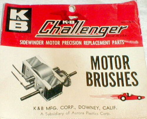 K&B Slot Car Round Motor Brushes for Challenger Motor # 1502-2 NOS Vintage