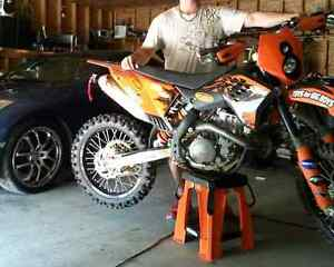 2007 ktm 505sxf trade for side by side or 4x4 wheeler