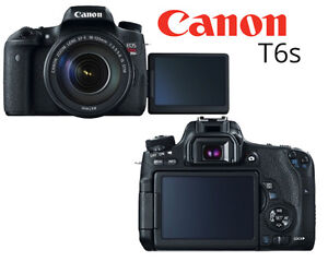 Canon T6S with 18-135 and extra batteries