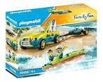 PLAYMOBIL Family Fun strandwagen met kano junior 88 delig