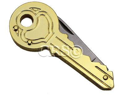 Pocket Knife 2, 5 or 10 Pack Lot Utility Secret Hidden Key Shaped Size Ring Gold - Hidden Knives