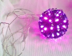 LARGE ROUND LIGHT-UP BALL, With TIMER Modes, INDOOR OR OUTDOOR, Brand New.