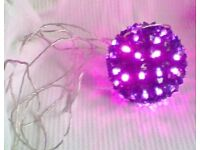 Large Round DECORATION BALL, LIGHTS-UP, With Dancing TIMER MODES. Brand New.