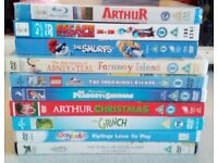 Childrens dvd and blu ray bundle x10