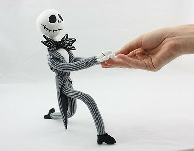 The Nightmare Before Christmas Jack Skellington Poseable Plush Doll Gift XMAS US