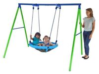 Sportspower Saucer Swing - 2 Children Weather Resistant Steel Frame