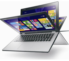 Lenovo Yoga 2, Laptop Touchscreen HD with IPS, intel-SSHD500GB-4GB, silver