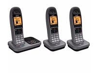New Boxed BT 7610 Cordless Phone with Answering Machine Triple Handsets Was: £139.99