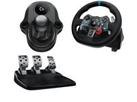 LOGITECH Driving Force G29 Steering Wheel Pedals gearshift PS4, PS3, PC Gaming