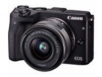 Canon EOS M3 24.0MP Digital Camera - Black (Kit w/ 18-55mm EF-M IS STM Lens)