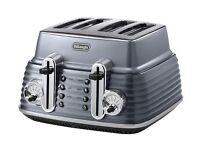 De'Longhi Scultura CTZ4003GY 4-Slice Toaster