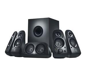 LOGITECH Z506 5.1 PC Speakers - 48W Speaker, 27W Subwoofer - Black - New