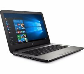 "HP 14"" Laptop - Silver - Used twice - Mint in box - Cost £280 reduced from £400 - 9 months Warranty"