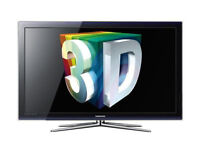 Samsung Plasma 3D TV, 50 inch, with Freeview, 3D glasses, and remote control