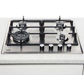 Beko HCMW64225SX Gas Hob. Stainless Steel. Brand New. RRP £199