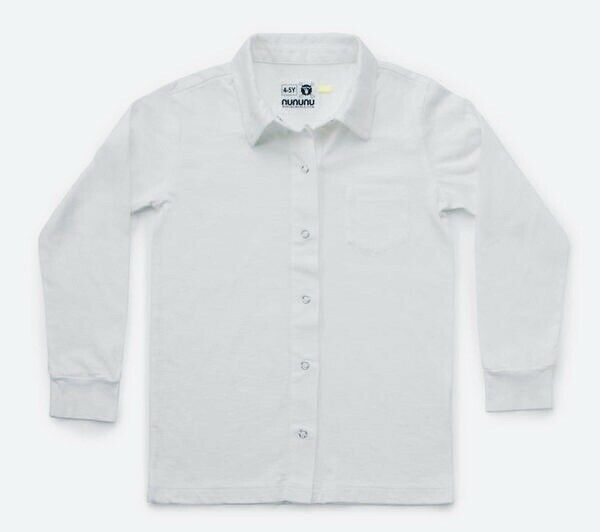 Nununu White Snap Shirt 2-3