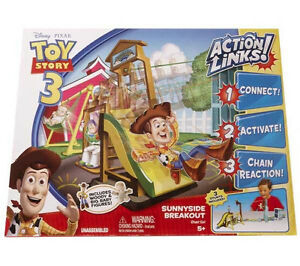 Used MATTEL Toy Story 3 Deluxe Breakout Stunt Set