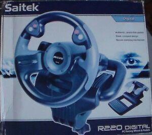Saitek R220 Digital Plug n Play Steering Wheel W/Pedals - PW06