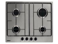 New Boxed Zanussi Gas Hob ZGG65414XA Stainless Steel 4 Hobs 60cm Was: £219.99