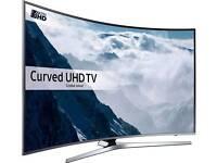 "SAMSUNG UE49KU6670 Smart 4k Ultra HD HDR 49"" Curved TV."