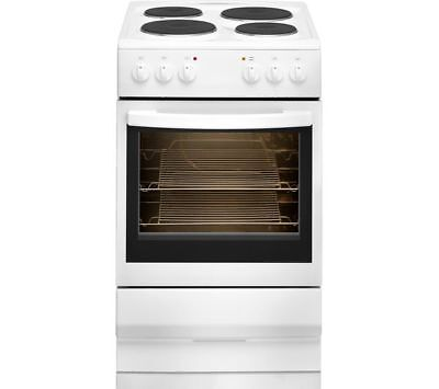 New Essentials CFSEWH17 50 Cm Electric Solid Plate Cooker - White