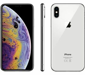 iPhone XS 64GB Silver Unlocked + Accessories