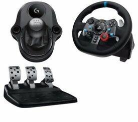 Sealed Logitech G29 gaming wheel + shifter