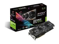 1 Asus Rog Strix GeForce GTX 1070 TI brand new video card