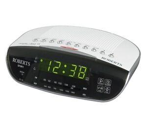 ROBERTS CR9971 Chronologic VI Analogue Clock Radio - Silver - Currys